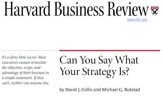 Harvard Business Review – Strategieprozess
